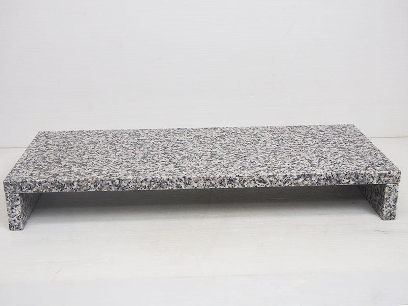 オリジナルモニタースタンド白御影石(9kg)【モニター台】【モニタースタンド】