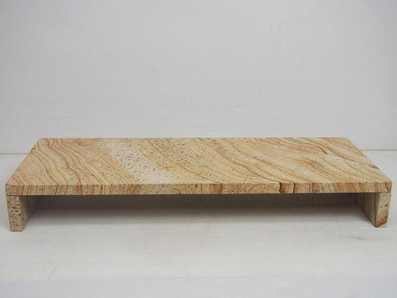 オリジナルモニタースタンドイエロー砂岩(9kg)【モニター台】【モニタースタンド】