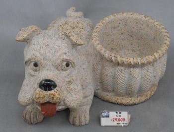 犬のプランター石の置物 290x330x128 15kg