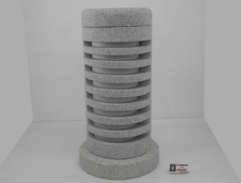 白御影石灯り 石の置物 台φ270 φ215x50 26.2kg