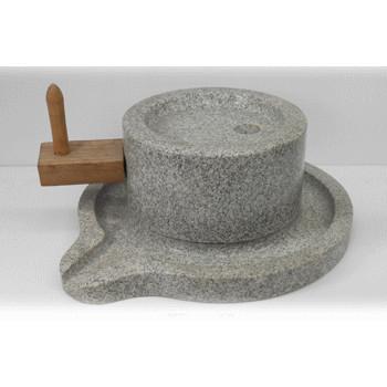 石臼 3 石の置物 φ255x165 27kg