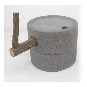 石臼 2 石の置物 φ270x230 37.8kg