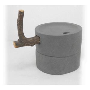 石臼 1 石の置物 φ270x230 37.2kg