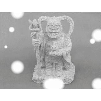 毘沙門天 石の置物 170x100x310 5kg
