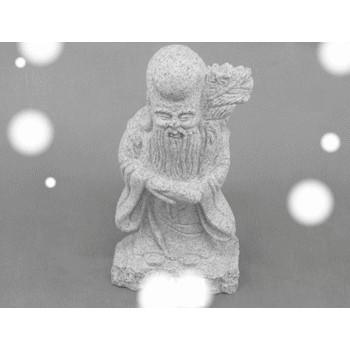 寿老人 石の置物 150x90x310 4.2kg