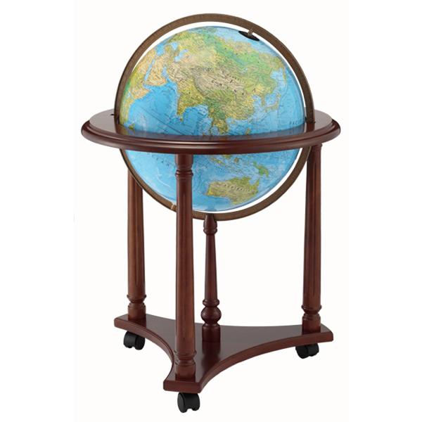 The Lafayetteリプルーグル地球儀 ラファイエット型 ブルーオーシャン地図英語版