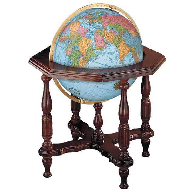 The Stantesmanリプルーグル地球儀 ステイツマン型 ブルーオーシャン地図英語版