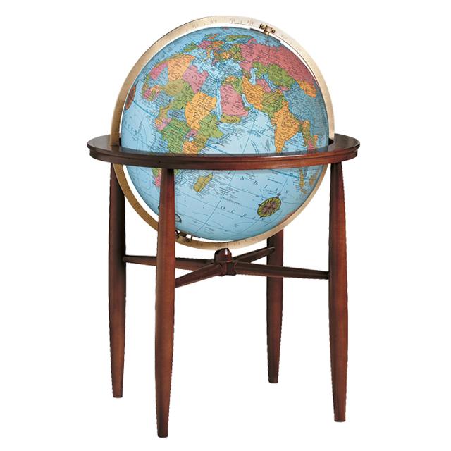 The Finleyリプルーグル地球儀 フィンレイ型 ブルーオーシャン地図英語版