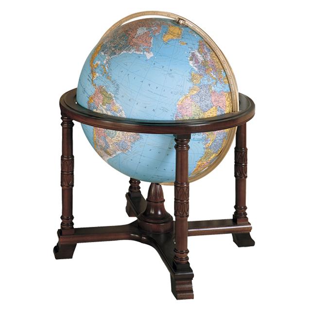 The Diplomatリプルーグル地球儀 ディプロマット型英語版