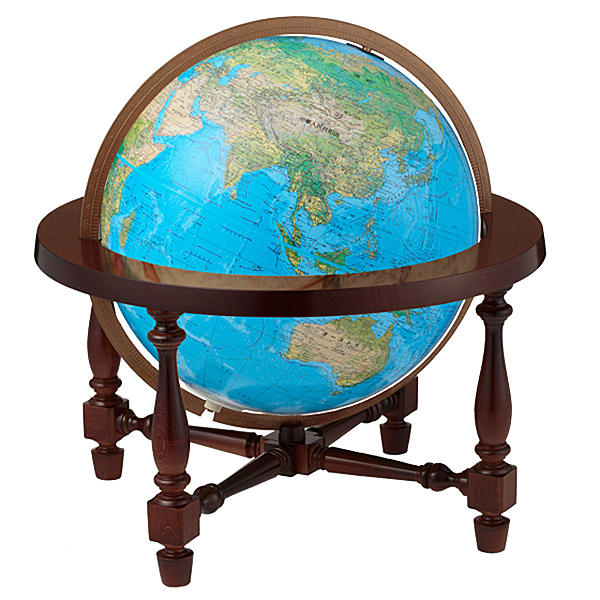 The James Wilsonリプルーグル地球儀 ジェームス・ウィルソン型英語版ブルーオーシャン地図