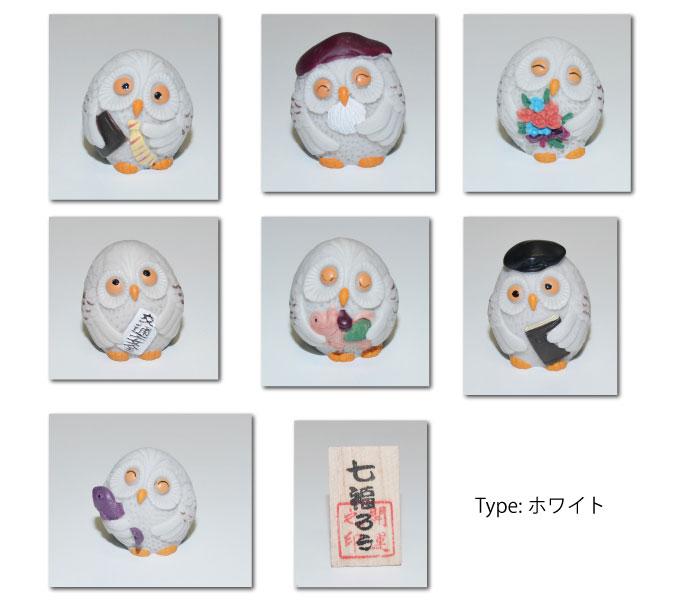 Good luck! Seven lucky would have 2 kinds of owls and OWL / gods / display / figurines / opening celebration / good luck gift Maneki Neko / senior day / new year.