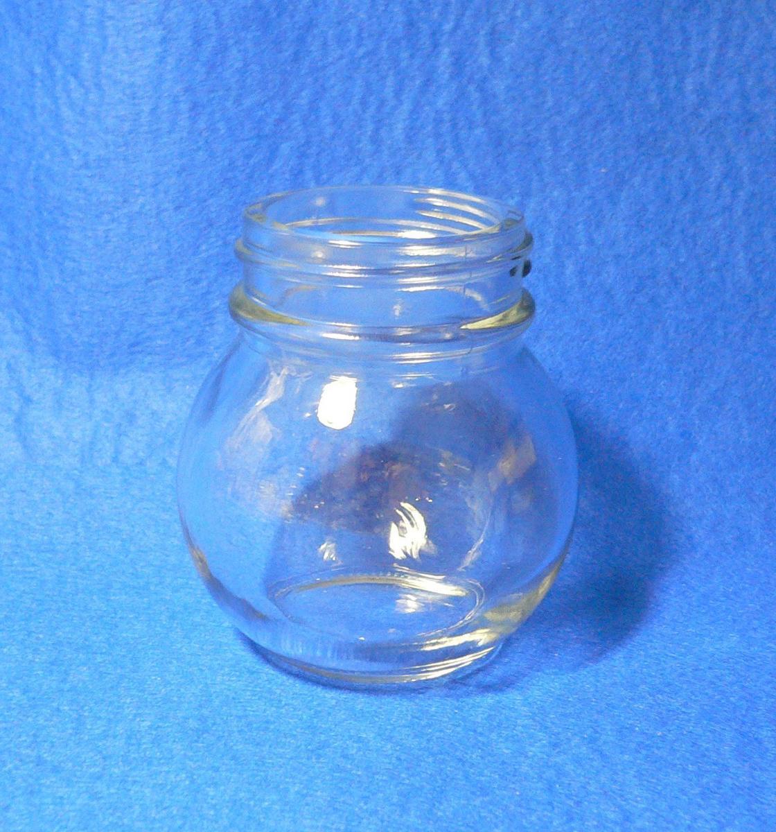 透明ガラス広口瓶 球ネジ 1ケース(120本入) 容量OF114ml
