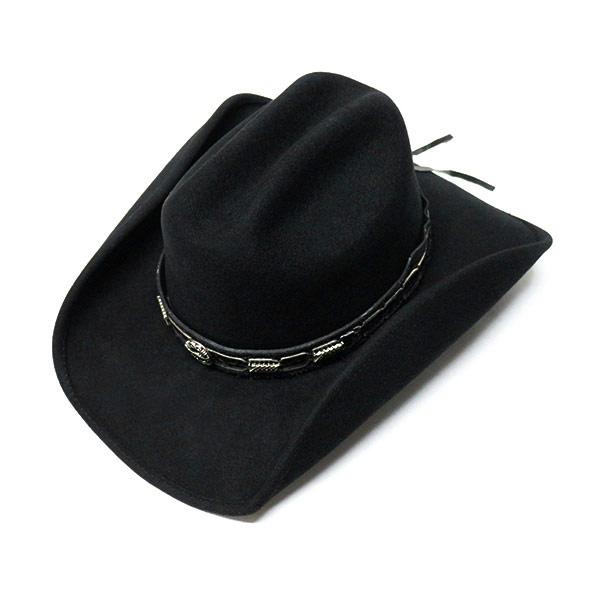 #320031ブルハイド(BULLHIDE)ウエスタンハット - PASS THE BUCK/パス ザ バック(ワイヤー入り) 帽子 テンガロンハット カウボーイ カウガール 衣装 ダンス イベント フェルト ややハードタイプ 黒 ブラック M L XL 0638BL