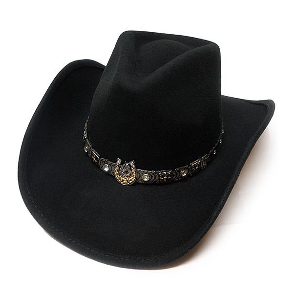 #320043ブルハイド(BULLHIDE)ウエスタンハット - DARK HORSE/ダークホース(ワイヤー入り) メンズ レディース 帽子 テンガロンハット カウボーイ カウガール 衣装 ダンス イベント フェルト 黒 ブラック S M L XL 0708BL