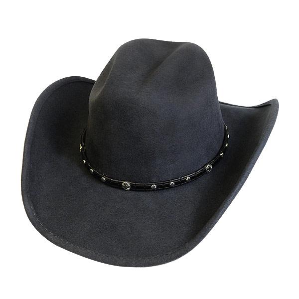 #320058ブルハイド(BULLHIDE)ウエスタンハット - BALLED UP/ノールドアップ (ワイヤー入り) メンズ レディース 帽子 テンガロンハット カウボーイ カウガール 衣装 ダンス イベント フェルト グレー 灰色 M L XL 0747G