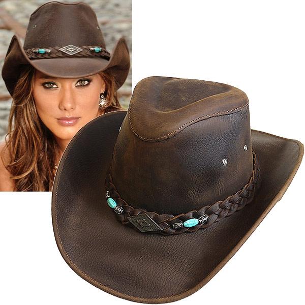 #320069ブルハイド(BULLHIDE)レザーウエスタンハット - ROYSTON/ロイストン 帽子 テンガロンハット カウボーイハット 本革 衣装 ダンス 茶 ブラウン XL 4048CH