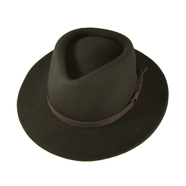 240008 Doubles (Double S) Western Hat - DURANGO (Durango) men s women s  crushable cowboy hat fedora Hat wool olive green green M L XL 380ff2e310c