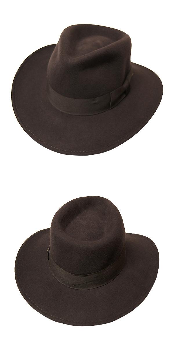 030056 Dorfman Pacific (DORFMAN PACIFIC DPC) Indiana ジョーンズモデル Western Hat  men s Indiana Jones INDIANA JONES Western Hat Western hats caps Hat wool ... 3c95a1b0750