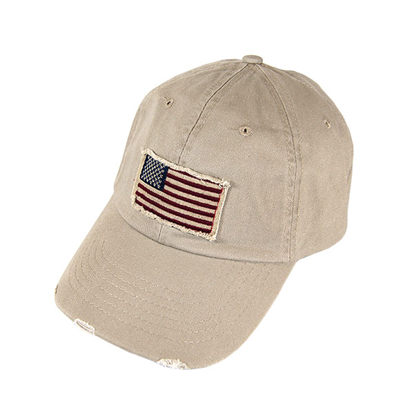 #930153 Dorfman Pacific (DORFMAN PACIFIC/DPC) American flag patch with  washedtwilcap - USA CAP mens American produced Baseball Cap Baseball Cap  flag