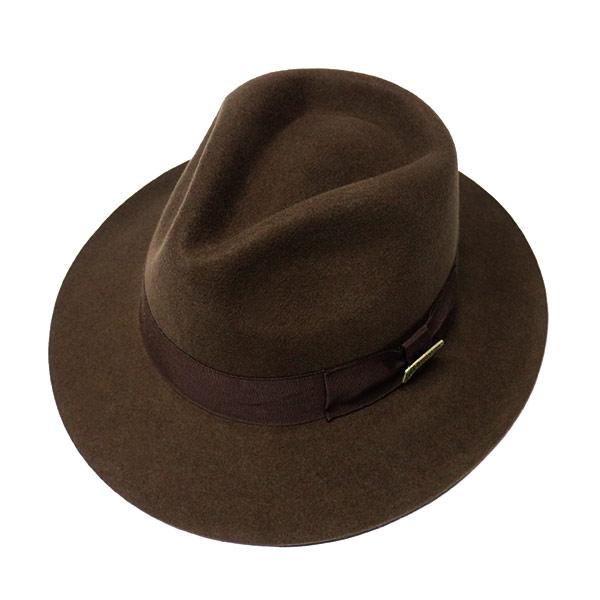 #930194ドーフマンパシフィック(DORFMAN PACIFIC/DPC)インディアナ・ジョーンズモデルウエスタンハット インディジョーンズ 衣装 コスプレ ハロウィン テンガロン カウボーイ 中折れ帽子 ハリウッド ウールフェルト 茶 ブラウン M L XL