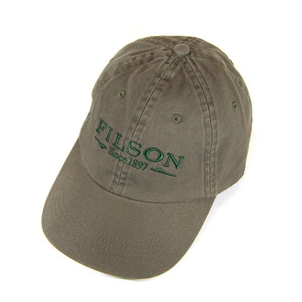 #100006 Filson (FILSON) cotton cap - CHINO CAP mens American produced United States production MADE IN USA cotton Hat baseball cap outdoor fishing camp climbing baseball cap logo embroidered Sage Green Green 60075