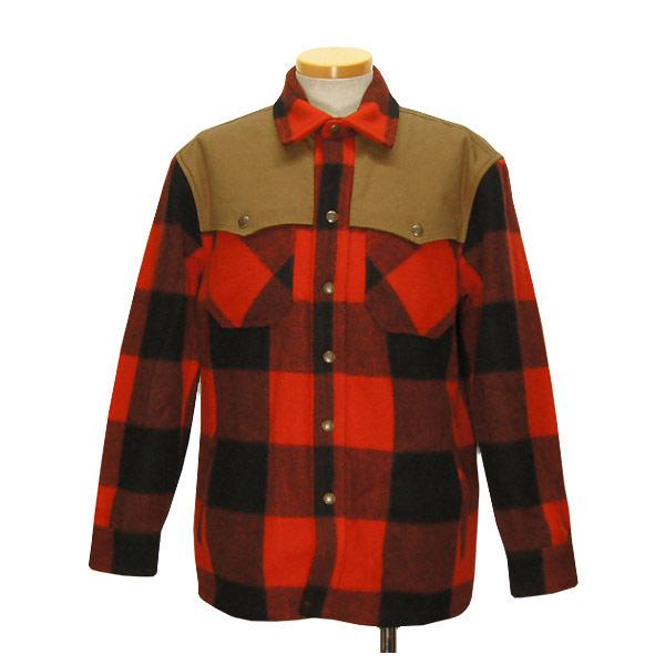 #922010オレゴニアンアウトフィッターズ(Oregonian Outfitters)アンプクワァウールジャケット - UMPQUA WOOL JACKET メンズ アメカジ アウトドア ブルゾン 防寒 アウター バッファローチェック 赤 黒 チェック柄 L XL OOJ 204