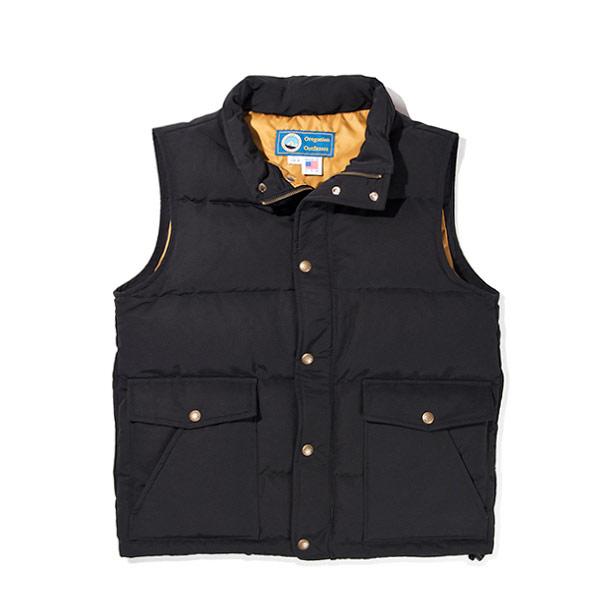 #921022オレゴニアンアウトフィッターズ(Oregonian Outfitters)クラマスダウンベスト - KLAMATH VEST メンズ アメリカ アウトドア 釣りファッション フェザー 中綿 アウター 大きいポケット 大きいサイズ 黒 ブラック M L XL