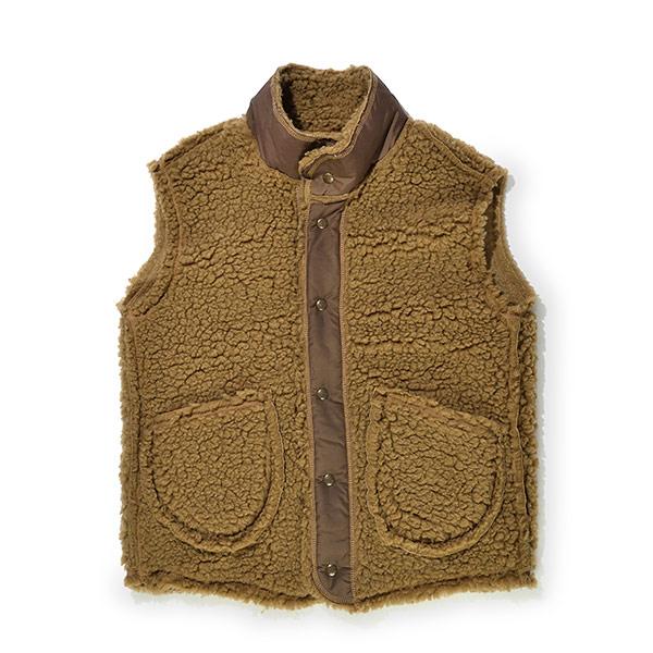 #921015オレゴニアンアウトフィッターズ(Oregonian Outfitters)ボアベスト - BOA VEST メンズ アウター 襟付き アウトドア カジュアル 注目ブランド 保温 モコモコ 防寒 重ね着 カーキ チョコ ブラウン 緑 茶 大きいサイズ M L XL