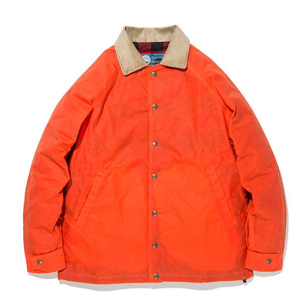 #922051オレゴニアンアウトフィッターズ(Oregonian Outfitters)ティンバーラインワックスジャケット - TIMBERLINE WAX JACKET ブルゾン スナップボタン アメリカ製 USA チェック柄裏地 ワックスコットン オレンジ 橙色 M L XL OOJ-602 ORG