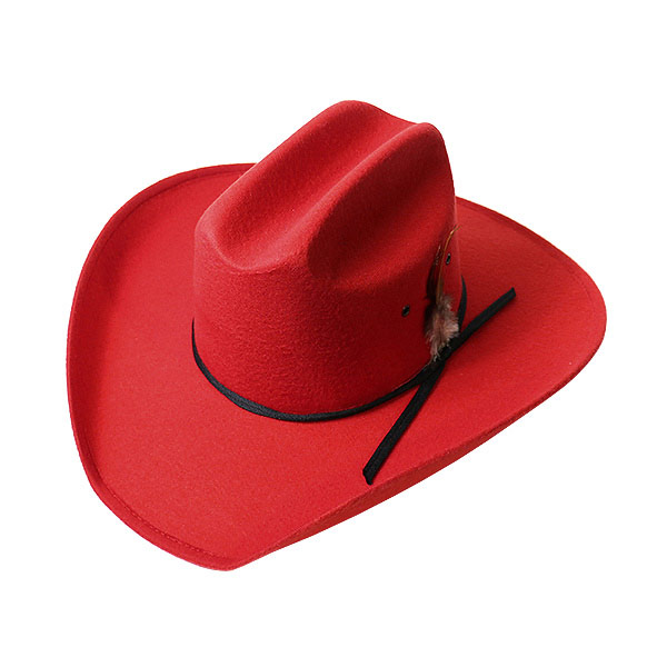 900019-lock mount (Rockmount) Western Hat mens women Hat Western Western  Hat cowboy hat fedora Hat Cowgirl felt Hat simple stylish hard red red S M  L XL ... aa638c829da