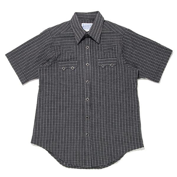 #901055ロックマウント Rockmount チェック柄 半袖ウエスタンシャツ (FITTED BODY) SP1634 BL S-L