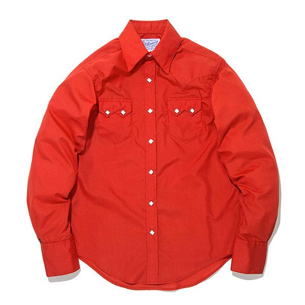 #902068ロックマウント Rockmount ウエスタンシャツ (カスタムフィット) レッド 640 RED S-L