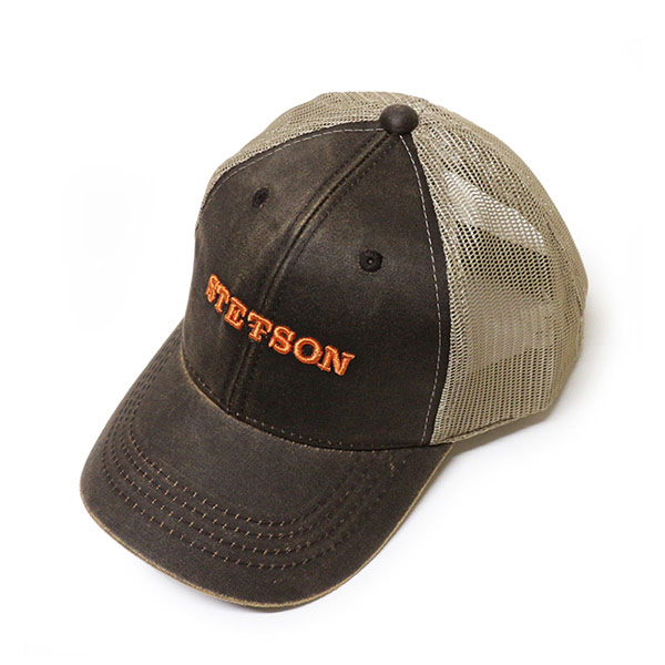 120027 Stetson (STETSON) embroidery Cap (MeSH) mens Womens Hat baseball cap  baseball caps CAP logo embroidered Velcro size adjustable one size tea Brown af95e0591d