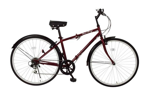 【送料無料】【代引不可】Classic Mimugo FDB700C 6S  700C折畳自転車6段ギア付 MG-CM700C[クラシックレッド]【メーカー直送】【】