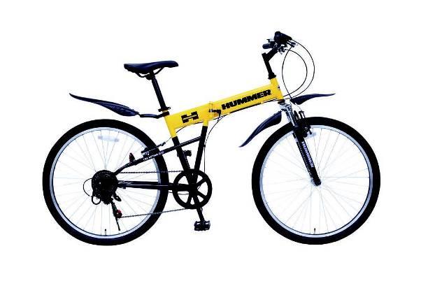 【送料無料】【代引不可】ミムゴ ハマー HUMMER FサスFD-MTB266SE 折りたたみ自転車  MG-HM266E[26インチ/イエロー]【メーカー直送】【人気】【売れ筋】【】