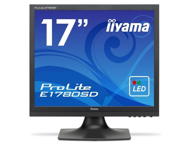 【キャッシュレス 5% 還元】 iiyama 液晶モニタ・液晶ディスプレイ ProLite E1780SD E1780SD-B1 [17インチ マーベルブラック] [モニタサイズ:17インチ モニタタイプ:スクエア 解像度(規格):SXGA 入力端子:DVIx1/D-Subx1]