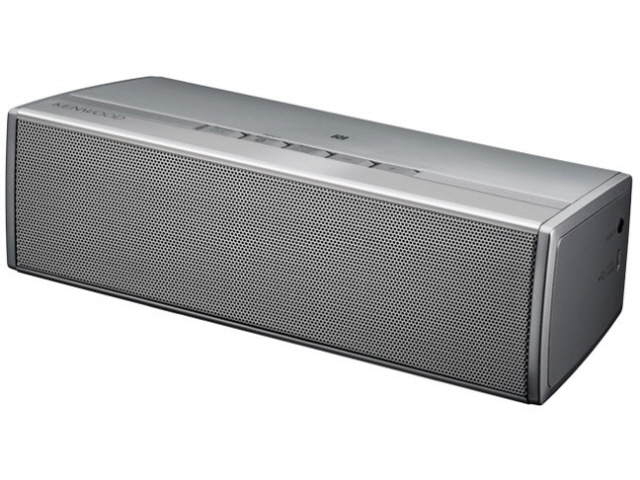 Kenwood PC speaker AS-BT77-S [Silver] [Bluetooth: NFC ○ ○ driving time: 4 hours and 40 minutes]