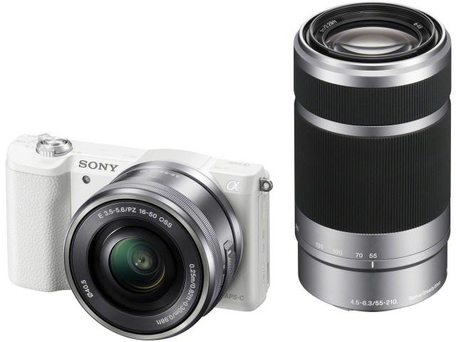SONY デジタル一眼カメラ α5100 ILCE-5100Y ダブルズームレンズキット [ホワイト] [タイプ:ミラーレス 画素数:2470万画素(総画素)/2430万画素(有効画素) 撮像素子:APS-C/23.5mm×15.6mm/CMOS 連写撮影:6コマ/秒 重量:224g]