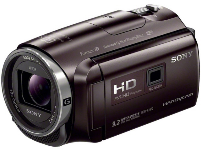 SONY ビデオカメラ HDR-PJ670 (T) [ボルドーブラウン] [タイプ:ハンディカメラ 画質:フルハイビジョン 撮影時間:150分 本体重量:325g 撮像素子:CMOS 1/5.8型 動画有効画素数:229万画素] 【】 【人気】 【売れ筋】【価格】【半端ないって】