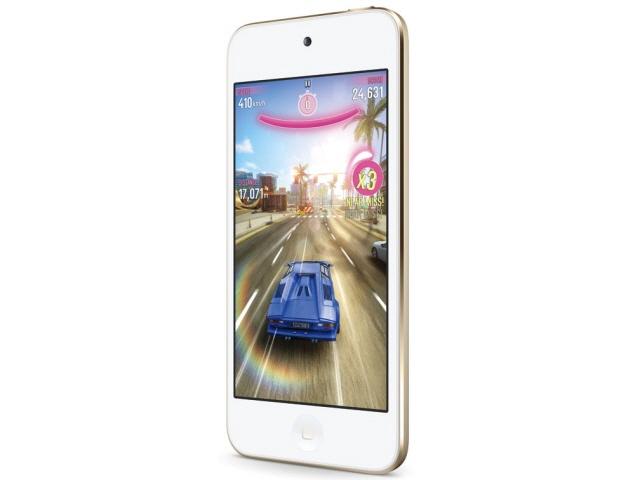 APPLE MP3プレーヤー iPod touch MKH02J/A [16GB ゴールド] [記憶媒体:フラッシュメモリ 記憶容量:16GB 再生時間:40時間 主な機能:日本語対応/ボイスレコーダー/Wi-Fi(無線LAN)/カメラ機能 インターフェイス:Bluetooth]