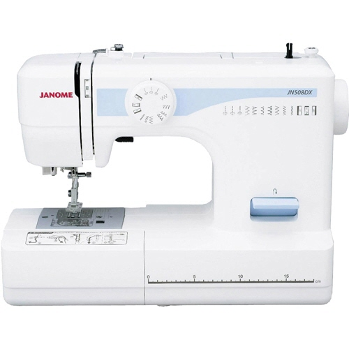 ジャノメ ミシン JN508DX [タイプ:電子 主な機能:厚物縫い 幅x高さx奥行:385x282x150mm] 【】 【人気】 【売れ筋】【価格】
