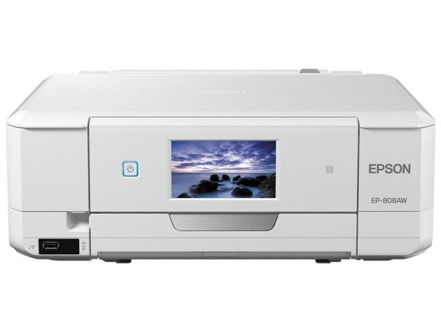 愛普生印表機 carrario EP-808AW [白色] [類型︰ 噴墨印表機解析度紙張大小︰ A4,5760x1440DPI 功能︰ 複製/掃描器]
