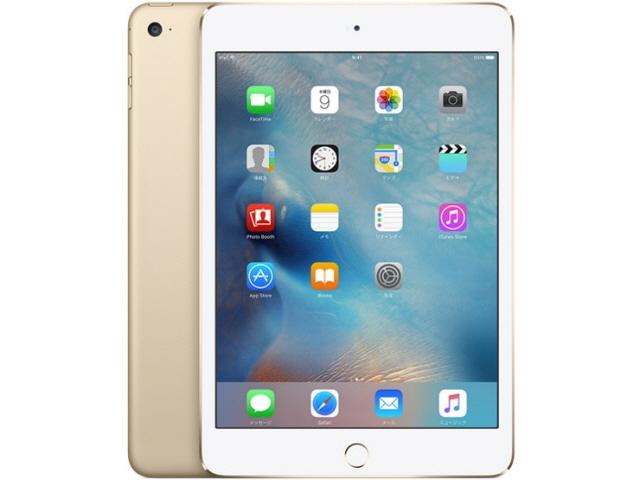APPLE タブレットPC(端末)・PDA iPad mini 4 Wi-Fiモデル 128GB MK9Q2J/A [ゴールド] [OS種類:iOS 9 画面サイズ:7.9インチ CPU:Apple A8 記憶容量:128GB] 【エントリーでポイント10倍以上!SS期間中】