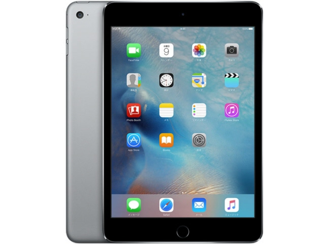APPLE タブレットPC(端末)・PDA iPad mini 4 Wi-Fiモデル 128GB MK9N2J/A [スペースグレイ] [OS種類:iOS 9 画面サイズ:7.9インチ CPU:Apple A8 記憶容量:128GB] 【】【人気】【売れ筋】【価格】