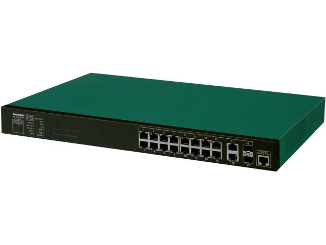 【キャッシュレス 5% 還元】 パナソニック ネットワークハブ XG-M16TPoE+ PN83169 [グリーン/ブラック] [転送速度:10BASE-T(10Mbps)/100BASE-TX(100Mbps)/1000BASE-T(1000Mbps)/+/100BASE-TX(100Mbps)/1000BASE-T(1000Mbps) ポート数:16+2]