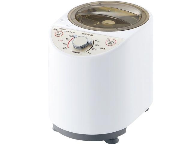 ツインバード 精米機 精米御膳 MR-E500W [ホワイト] [容量:4合 胚芽米:○] 【】 【人気】 【売れ筋】【価格】【半端ないって】
