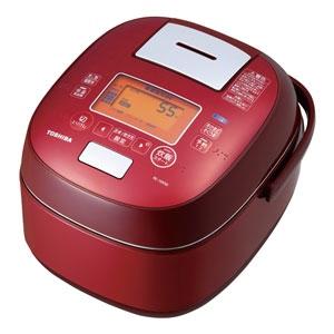 東芝電飯煲真空壓力IH RC-18VSK(R)[豪華紅][是否10合裏面的鍋壓力IH電飯煲煮飯量類型是鍛造窗銅鍋之外功能:遠紅外線/無洗米的路線/裏面的蓋子圓洗/烤面包]