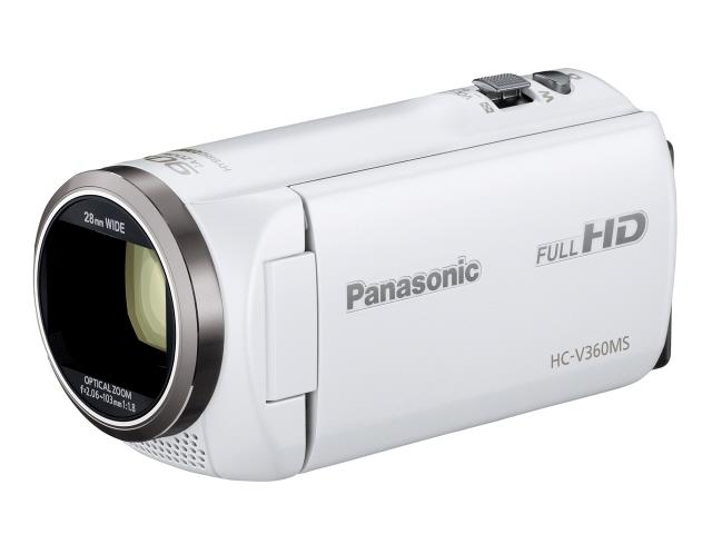 【キャッシュレス 5% 還元】 パナソニック ビデオカメラ HC-V360MS-W [ホワイト] [タイプ:ハンディカメラ 画質:フルハイビジョン 撮影時間:115分 本体重量:213g 撮像素子:MOS 1/2.3型 動画有効画素数:220万画素] 【】 【人気】 【売れ筋】【価格】