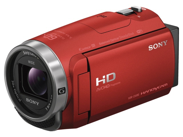 Sony video camera HDR-CX680 (R) [red] [a type: handy camera image quality:  full high-definition photography time: for 160 minutes body weight: 305 g