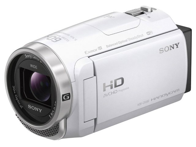 SONY ビデオカメラ HDR-CX680 (W) [ホワイト] [タイプ:ハンディカメラ 画質:フルハイビジョン 撮影時間:160分 本体重量:305g 撮像素子:CMOS 1/5.8型 動画有効画素数:229万画素] 【】 【人気】 【売れ筋】【価格】【半端ないって】